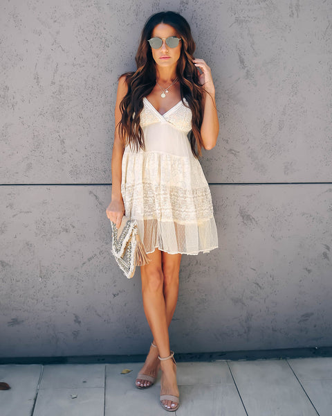 Mixed Personalities Lace Babydoll Dress
