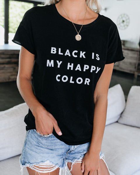 Black Is My Happy Color Cotton Tee