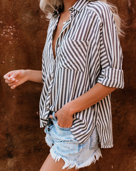 Malcolm Button Down Cotton Top