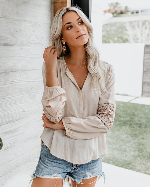 Michaela Lace Blouse - Vanilla