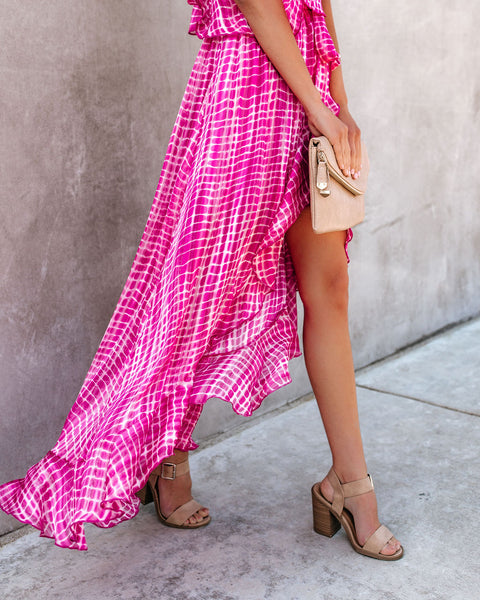 Ride Or Dye Ruffle High Low Dress
