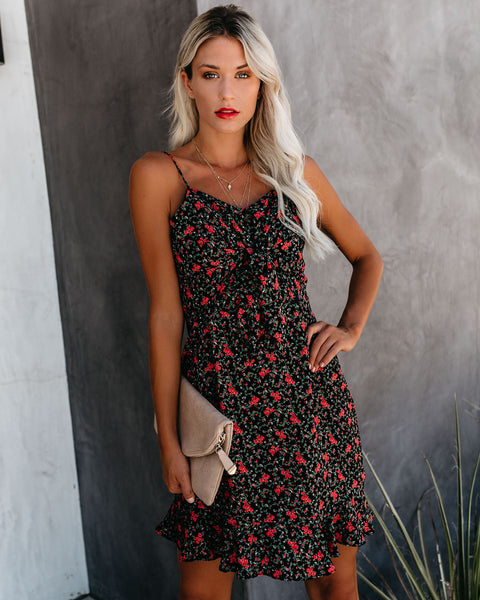 Xavier Floral Tie Front Dress