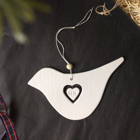 2018 Commemorative Dove Christmas Ornament