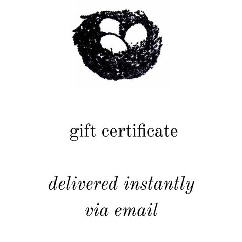 GIFT CARD delivered by email- instant gift certificate