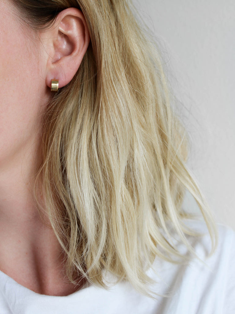 simple band earrings swy studio