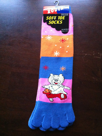 Kung Fu Bear Toe Socks - Carrie's Closet