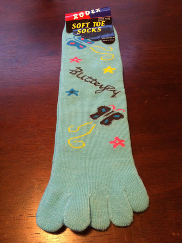 turquoise butterfly toe socks - Carrie's Closet