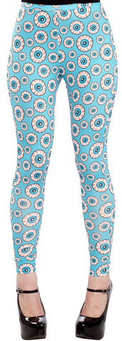 Optical Delusion Eye Eyeball Plus Size Leggings XL - Carrie's Closet