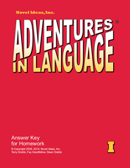 1006-1AK Adventures in Language Level I (2014 Edition) - Answer Key Workbook*