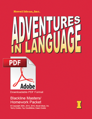 1001.2 Adventures in Language Level I (2014 Edition) - Blackline/Homework Masters Packet Downloadable PDF