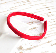 Satin Doll Headband Dark Red
