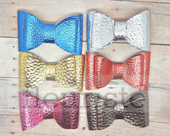 "2.5"" Leather Bows - Choose Colors"