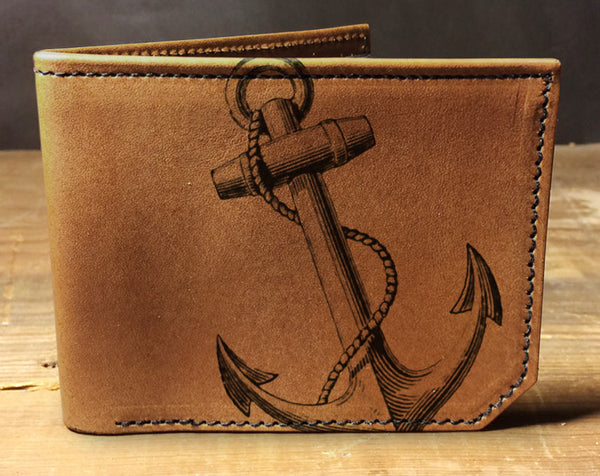 Anchor - Printmaker Leather Wallet