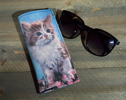 Kitty - Printed Leather Eyeglasses Case Wholesale