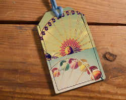 Ferris Wheel - Leather Luggage Tag