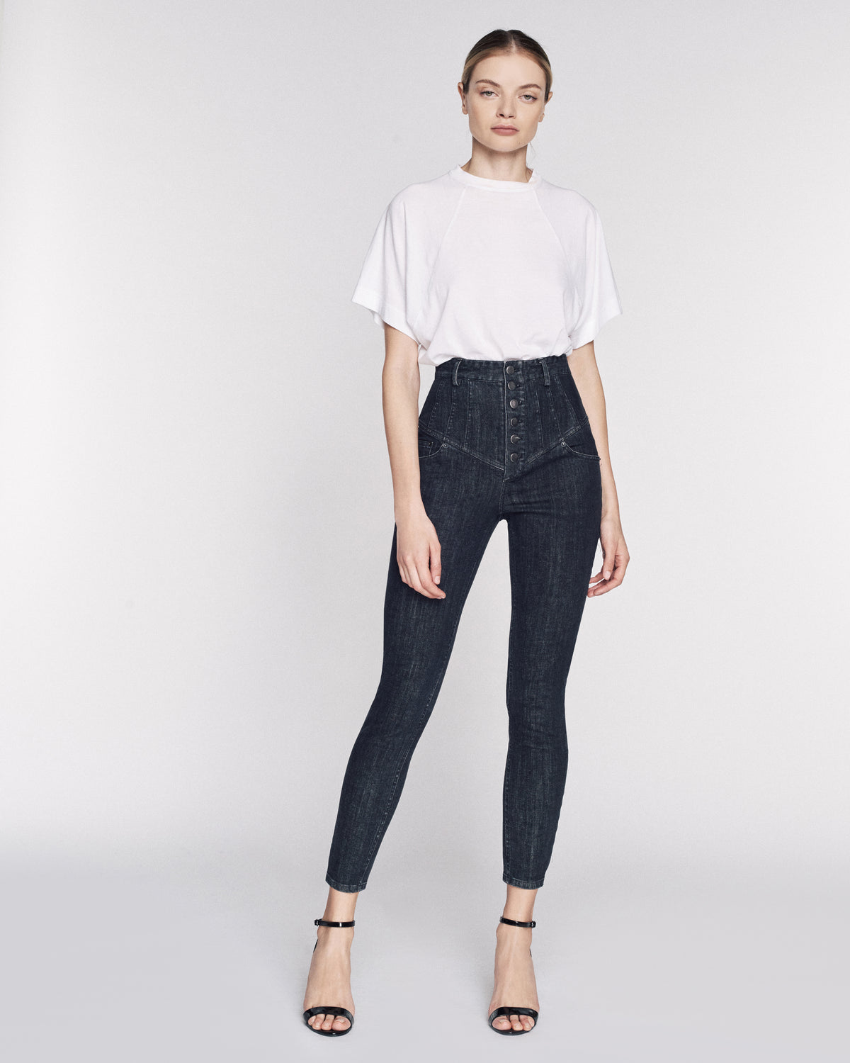 Hartly Denim Pant in Black Rinse Wash