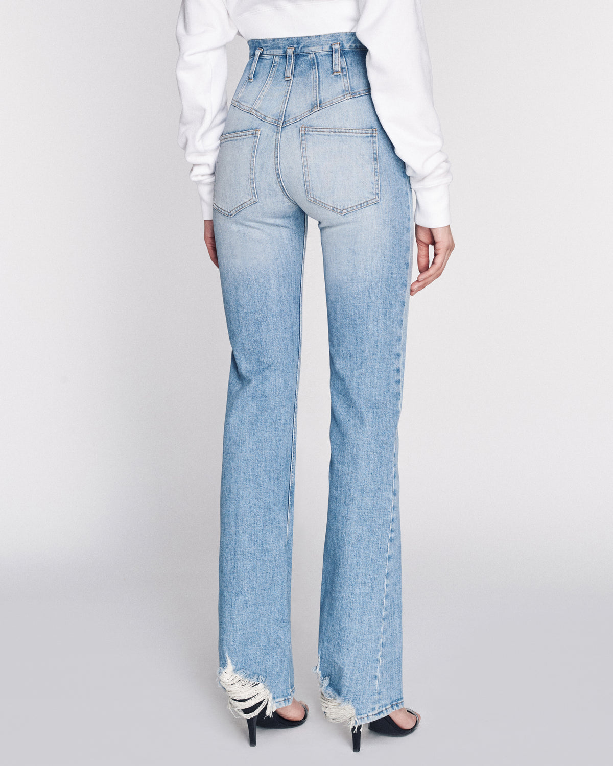 Kate Denim Pant in Indigo Medium Stone Wash