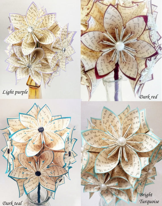 "A Dozen ""I Love You"" Paper Flowers"