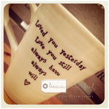 East of India Loved You Yesterday Mug