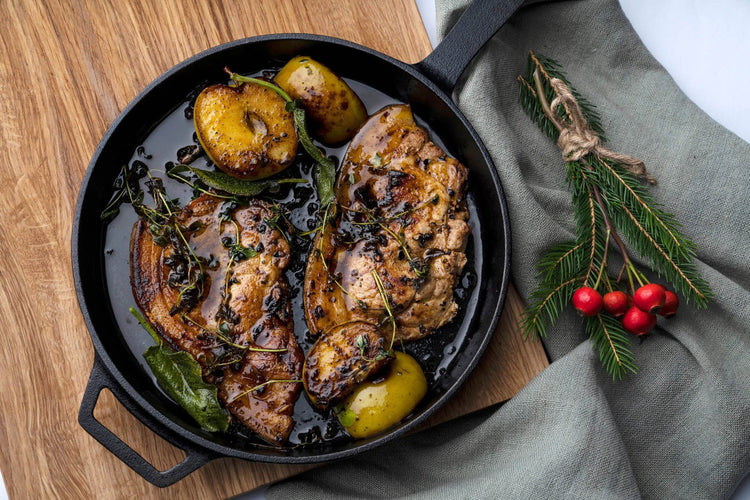 Roast Pork Chops with Apple & Cinnamon
