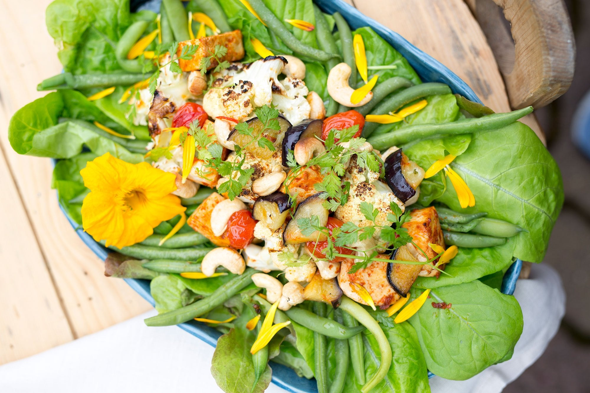 Spicy Tofu Salad with Cashews & Eggplant Featured Image