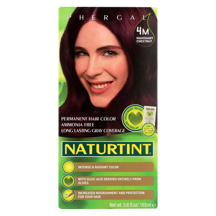 Naturtint Hair Color - Permanent - 4m - Mahogany Chestnut - 5.28 Oz
