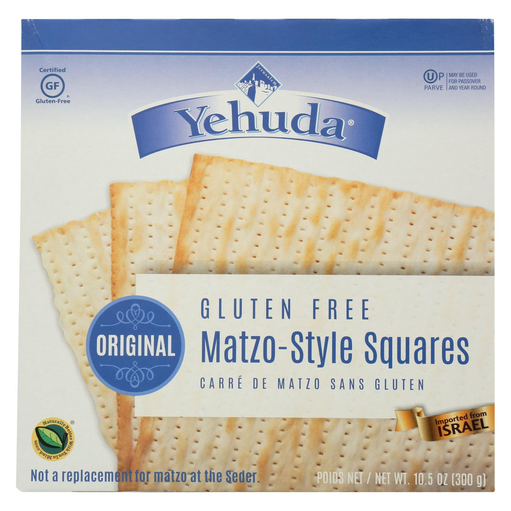 Yehuda Matzo Gluten Free Crackers - Case Of 12 - 10.5 Oz.