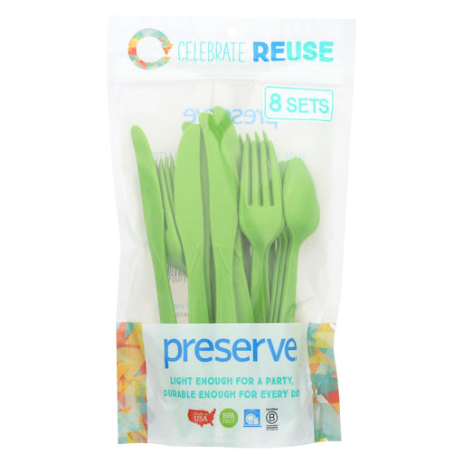Preserve Heavy Duty Cutlery - Apple Green - Case Of 12 - 24 Count