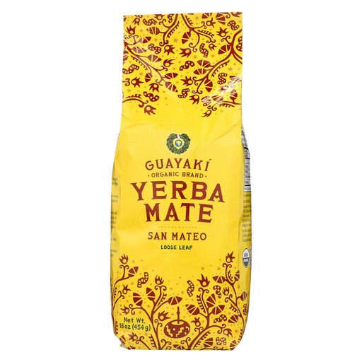 Guayaki Yerba Mate - San Mateo Air Dried - Loose Leaf - Case Of 6 - 16 Oz.