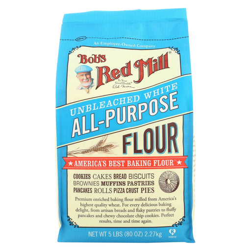 Bob's Red Mill Unbleached White All-purpose Baking Flour - 5 Lb - Case Of 4