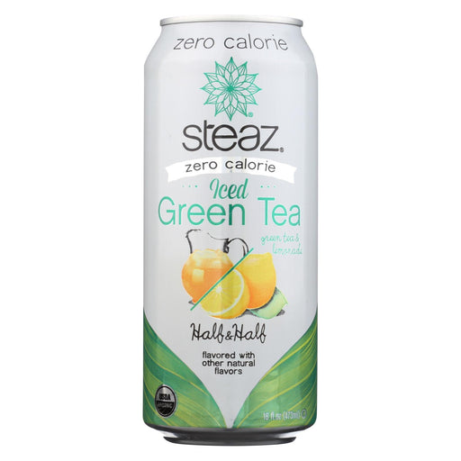 Steaz Zero Calorie Green Tea - Half And Half - Case Of 12 - 16 Fl Oz.