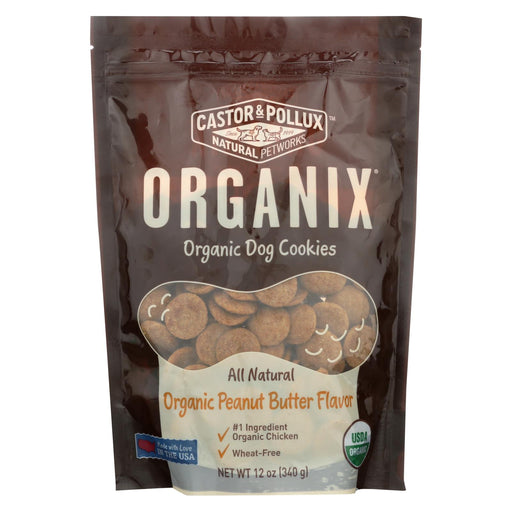 Castor And Pollux Organic Dog Cookies - Peanut Butter - Case Of 8 - 12 Oz.