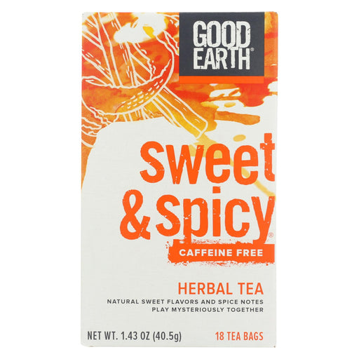Good Earth Herbal Tea - Sweet And Spicy - Case Of 6 - 18 Bags