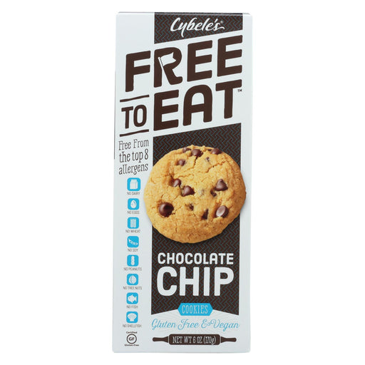 Cybel's Free To Eat Chocolate Chip Cookies - Case Of 6 - 6 Oz.