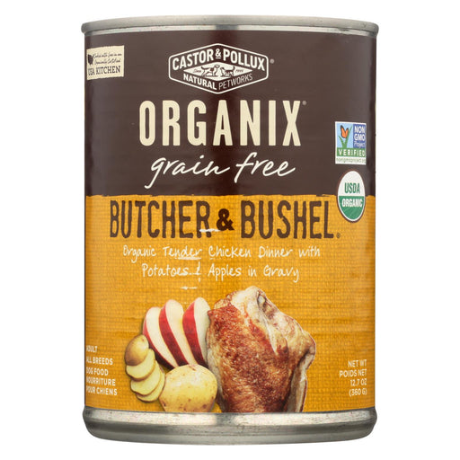Castor And Pollux Organic Butcher And Bushel Dog Food - Tender Chicken - Case Of 12 - 12.7 Oz.