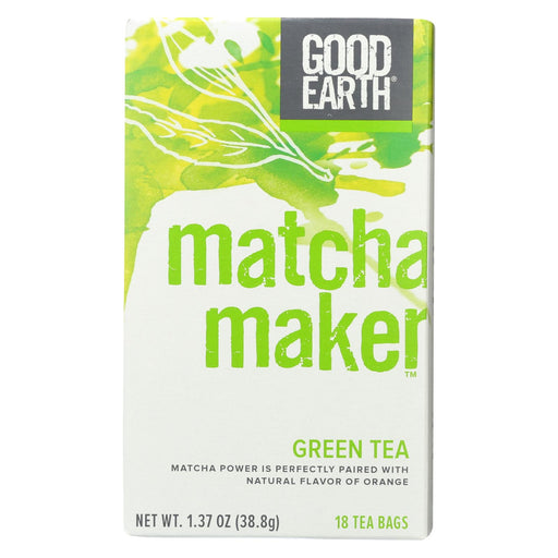 Good Earth Green Tea - Matcha Maker - Case Of 6 - 18 Count