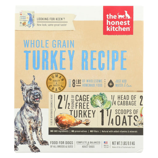 The Honest Kitchen Keen - Whole Grain Turkey Dog Food - Case Of 6 - 2 Lb.