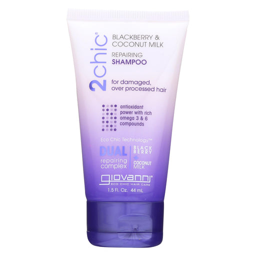 Giovanni Hair Care Products Shampoo - 2chic - Repairing - Blackberry And Coconut Milk - 1.5 Oz