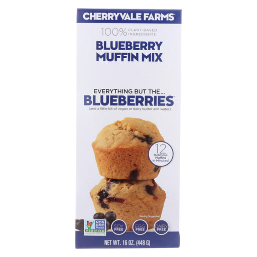 Cherryvale Farms Muffin Mix - Blueberry - Case Of 6 - 16 Oz.