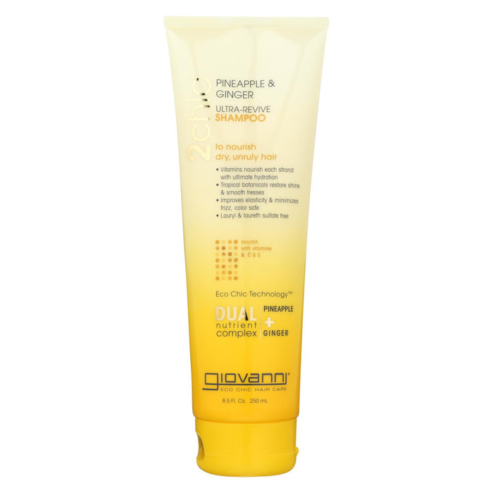 Giovanni Hair Care Products Shampoo - Pineapple And Ginger - Case Of 1 - 8.5 Oz.