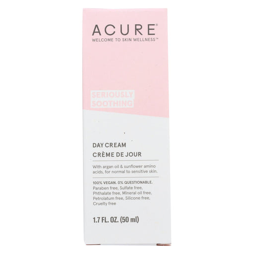 Acure Sensitive Facial Cream - Argan Oil And Sunflower Amino Acids - 1.75 Fl Oz.