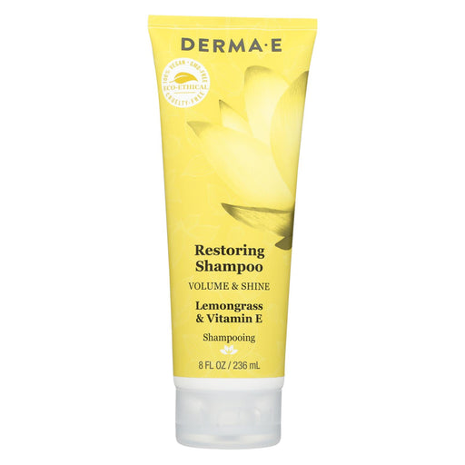 Derma E Shampoo - Volume And Shine - Restoring - 8 Fl Oz