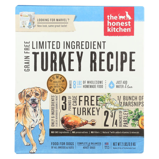 The Honest Kitchen - Dog Food - Limited Ingredient Grain Free Turkey Recipe - Case Of 6 - 2 Lb.