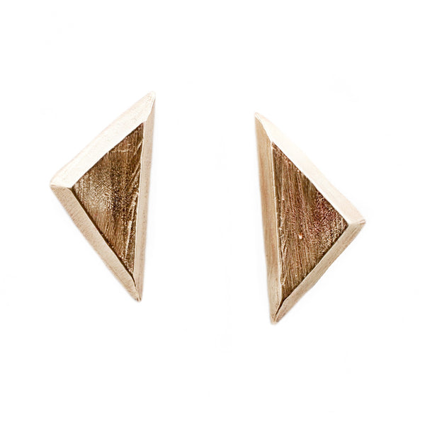 Gold Triangle Studs