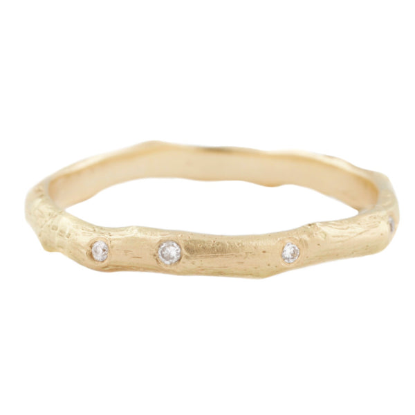 Gold Vine Diamond Band