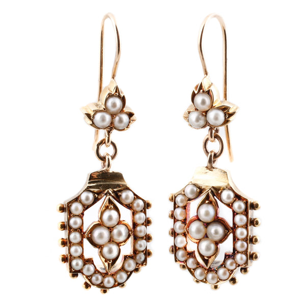 Victorian Pearl Earrings