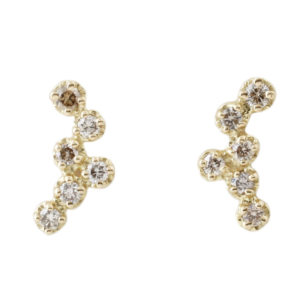 Hydra Brown Diamond Studs