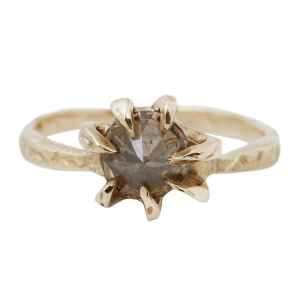 Diamond Stingray Solitaire Ring