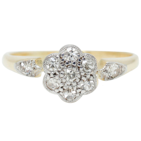 Edwardian Flower Cluster Ring