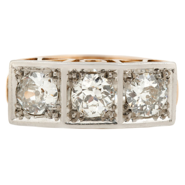 Square Set Diamond Ring